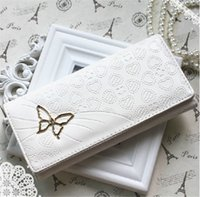 clip handbag - Butterfly Clutch Checkbook Purse Money Clips Change Bag Women s Handbag Wallet