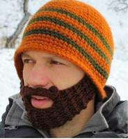 beard head hat - Popular Cool Designer Hand Knitting Men Beard Cap Viking Knit Beard Adults Man Beanie Skull Classic Mens Warm Winter Hats Ear Head Warmer