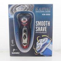 Lavable Hombres Kemei Rechaegeable pelo 3 cabezas herramienta de la maquinilla de afeitar eléctricas Beard Trimmer Shaver Hombres profesionales