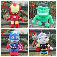 age video games - 80pcs cm Anime Avengers Age of Ultron Q Version plush dolls toy Iron Man Hulk American Captain Thor stuffed toys HX