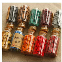 Wholesale Creative vintage DIY Wax in bulk sealing wax granule wax stamp Mixed different colors with bottle