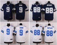 cowboys jerseys - Men Cowboys Discount American Football Jerseys Dez Bryant Tony Romo White blue Elite Cheap embroidery logo Mix Order