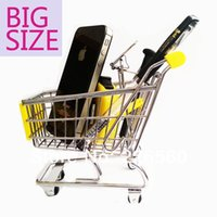 Wholesale Piece BIG SIZE Mini Shopping Cart Desk Organizer Mini Shopping Trolley