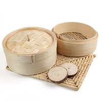 bamboo rice cooker - Lowest Price Tier Bamboo Steamer Chinese Dim Sum Basket Rice Pasta Cooker Set with Lid Kitchen Cookware Fish Dim Sum Rice