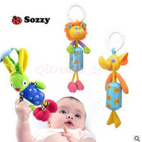 Wholesale 1000pcs CCA3130 High Quality Sozzy Queen Baby Toy Bed Hanging Plush Doll Bell Wind Chimes Animal Wind Chime Rattles Mobiles Hanging Bell Toy