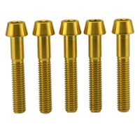 Wholesale Titanium Ti Gr5 Gold Bolt M6x30m mm mm mm mm Screw Tapered Hex Allen Head Bolt