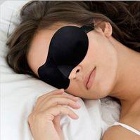 Wholesale Soft polyester Sponge goggles Sleeping D Eye Mask EyeShade Nap Cover Blindfold Sleeping Travel Rest Patch Blinder
