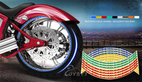 Wholesale Wheel Rim Stripe Decal Sticker Reflective PVC Waterproof Sunscreen Motorcycle Stickers Fit for quot quot quot Wheel Motor Accessories