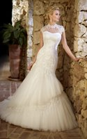 Reference Images beach service - Fast Service Soft Sweetheart Neck Tulle Layers Removable Lace Jacket Mermaid Wedding Dresses Custom Made Lace up Back