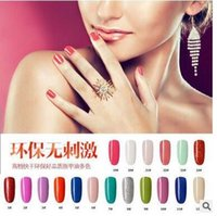 Wholesale New arrivals High Quality SOAK OFF Gel Polish Nail Polish ml colors Avaliable via Epacket