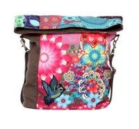 flower handbags - New Fashion LADY S BAG Desigual Ibiza Flower Geometric Womens canvas bird bag handbag shoulder bag gift
