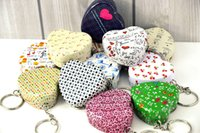 Wholesale Storage Boxes Bins Mini Cute Heart shaped Pendant Small Tin Box Storage Box Iron Box Pack Some Small Items Hang on A Key Ring