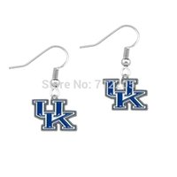 Wholesale NCAA pair a enamel left and right facing single sided University of Kentucky Wildcats SEC earring