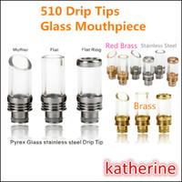 flat ring - E Cigarette Drip Tip Mouthpiece Pyrex Glass Muffler Flat Ring Colors for CE4 CE5 Vivi Nova Evod Atomizer E Cig Mouthpieces