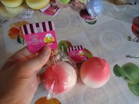 Wholesale cm candy colors lovely peach squishy with tags