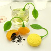 plastic tea cups - Cute Lemon Tea Leaf Herbal Infuser Maker Filters Infuser Strainer Food Great Silicone Cup Bag Ball Drinkware