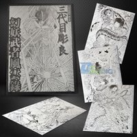 Wholesale Large size A3 Japanese Warrior vs Mystic Devil Tattoo Flash Book Original Sketch