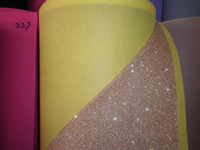 Wholesale 10metres Stunning Colours Fine Bits Glitter Wallpaper Wallcovering Decorative Crafting Wedding celebrations carpet upholstery fabric