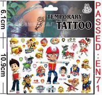 Wholesale Cartoon DOG patrol Temporary Body Tattoos kids body stickers cm Sesame street Octonauts Tangled body poster kids toys stickers