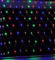 Wholesale LED Net Light Christmas Strip Light Multicolor Web Fairy Lights m x m Led String decoration Power Plug Free Ship