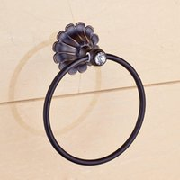 bathroom hardware oil rubbed bronze - Luxury Design Oil Rubbed Bronze Round Towel Ring Rack Bathroom Hardware