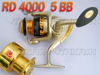 Wholesale New Arrival Pack BB RD4000 Series HUIHUANG Front Drag Fishing Reels Cast Aluminium Spool Spinning reel