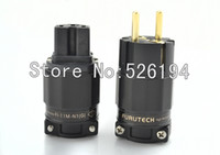 Wholesale ONE pair EU vesion Power IEC Connector FI N1 G Gold Plated A250V A125V Furutech