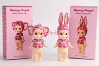 artist baby - 2015 pieces set sonny angel baby dolls Artist series rabbit and elephant lip print face Action figures kids toys for Girls