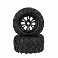 Wholesale 2Pcs New RC Car Wheel Rim and Tire for Traxxas HSP Tamiya HPI Kyosho RC Car Part