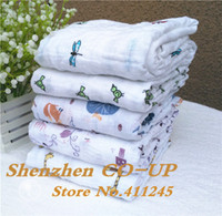 Wholesale 120x120cm Aden Anais Muslin Baby Swaddling Blankets Newborn Infant Cotton Swaddle Towel Famous Multifunctional