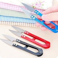 Garden Scissors aluminium manufacturers - B298 Supply stitch colored stainless steel U shaped small scissors yarn thread scissors cut the fishing line manufacturers whol