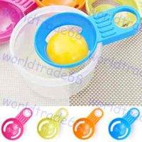 Wholesale egg white yolk device yolk separator practical cm Random color Egg Dividers Vitellus kitchen cooking tools