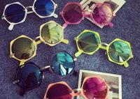 baby glasses frames - 2016 New fashion Children colorful sun glasses boys and girls metal sunglasses kids Round Adumbral Glasses baby accessory