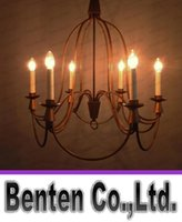 Wholesale Simple Nordic Mediterranean Iron Chandelier Bend Pipe Pendant Lamp Living Room Lights Dining Room Lights Iron Pendant Light Candle Chandelie