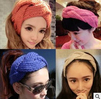 Wholesale Knitted Hair Band Hand Made Fried Dough Twist Mix color B8