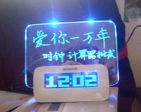 Wholesale all clock LED display fluorescent message board alarm clock USB birthday gift