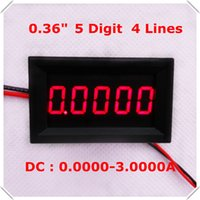 ammeter wiring - quot Digital Ammeter DC A Four wires digit Current Panel Meter led Display Color Red pieces