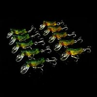 Wholesale 10pcs cm g Grasshopper Fishhooks Fishing Bait Minnow Hard Bait Lures Fishing Hooks Artificial Pesca Fishing Tackle Accessories
