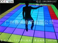 Wholesale LED dance floor tiles spacewalk fantastic stage design of ultra thin fashion RGB color LED floor tiles