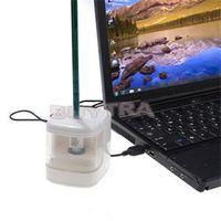 Wholesale 2014 New Creative Flashing USB Pencil Sharpener with LED Light Poratble Desktop Electronic Pencil Sharpener