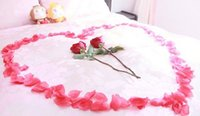 Wholesale High Simulation Petals Artificial Flower Wedding Supplies Rugosa Rose Roseleaf Red Rose Petal Sprinkle For Wedding Favors