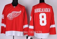 abdelkader shirt - 2016 New HIGH QUALITY DETROIT RED WINGS JERSEY JUSTIN ABDELKADER RED HOME PREMIER STITCHED MENS ICE HOCKEY SHIRT