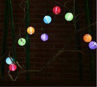 solar chinese lantern - 50x Christmas Lantern LED Solar Light String Lights Light Solar Power Chinese Lantern Garden LED Lighting For Garden Wedding Holiday Party