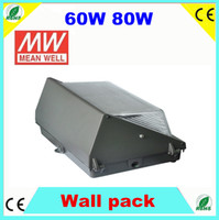 Wholesale 60W LED Wall Pack Light Public Building Mounted Lamp IP65 Waterproof k Lm w Years Warranty ETL meanwell driver
