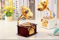 Wholesale Retro Gramophone Art Disc Music Box Creative Phonograph Archaize Music box Make up Case ewelry Home Decor Xmas Sale