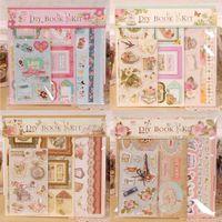 album scrapbook kit - DIY Mini Photo Album Making Kit For Kids Vintage Folding Pocket Scrapbook Album For Birthday Gift designs