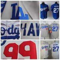 baseball shirts designs - 2016 New Los angeles dogers Matt Kemp Men Baseball Jersey New Design white Stitched Shirt Camisas Promotion kemp jersey