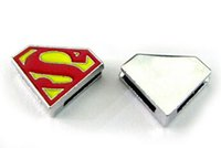 Wholesale Internal Dia MM DIY Alloy Slide Charm Superman Fit For Key Chains Leather Bracelet Wristband Fashion Jewelrys