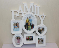 Wholesale Art Frames Wall Mounted Family Album Frame For Home Decoration White Conjunct Family Photo Frame Family Photo Frame