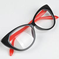 Wholesale Cute Lovely Cat Eye Glasses Frame Women Fashion Glasses Eyewear Accessories Colors oculos de sol feminino Y50 HM458 M5